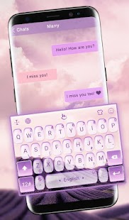 S8 Lavender Keyboard Theme - náhled