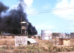 Photo: Rocket Attack drect hit on fuel farm.