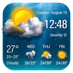 Transparent Weather Forecast Widget Icon