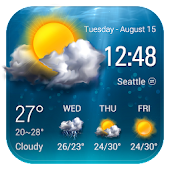 Transparent Weather Forecast Widget
