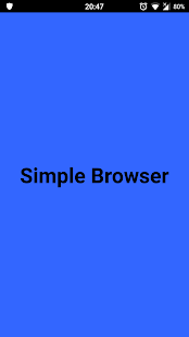 Simple Private Browser - náhled