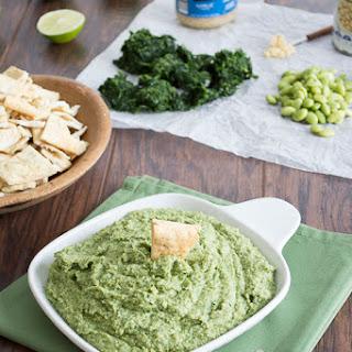 Spinach Edamame Garlic Hummus.