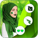 Pakistan flag Face Photo Editor : Independence Day icon