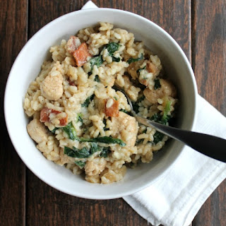 One Pot Spinach, Bacon & Chicken Risotto