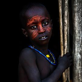 Boy Arbore by Damjan Voglar - Babies & Children Child Portraits ( ethnic, traveling, tribe, travel, portraits, africa, boy, photo, portrait, culture, travel photography, photography )