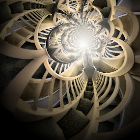 Stairway To Heaven by Simon Eastop - Abstract Patterns ( abstract, droste, stairs, fractal, manipulation )