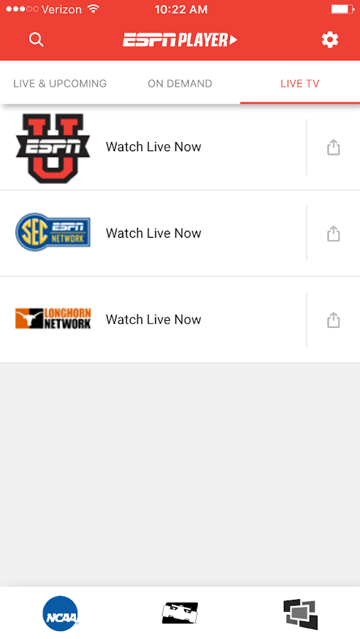 ESPN Player- screenshot