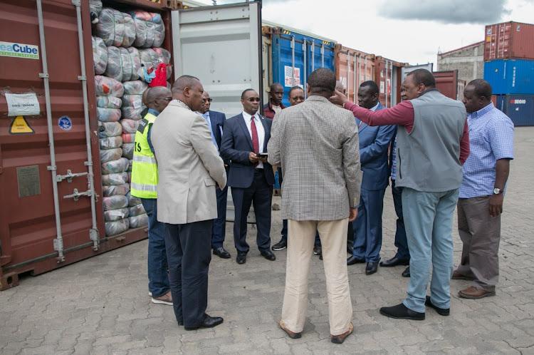 President Uhuru at Embakasi Inland Container Depot, May 27, 2019.
