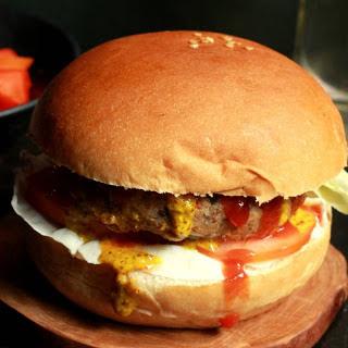 Vegan Burger Recipe With Beans And Tofu Patty.