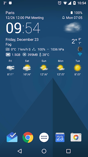 Transparent clock weather Pro v0.99.10.06 [Paid]