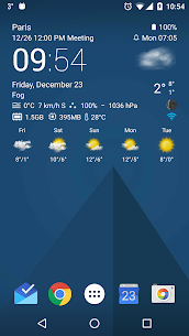 Transparent clock weather Pro V0.99.02.47 Mod APK 1