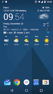 Transparent clock weather Pro Screenshot