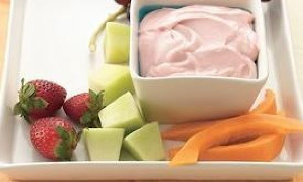 Raspberry And Lemon Fruit Dip Recipe