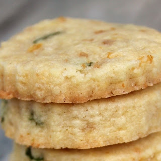 Lemon Basil Flower Shortbread Cookies