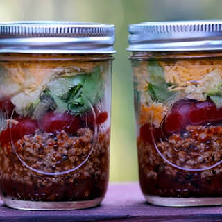 Skinny Taco Salad in a Jar.