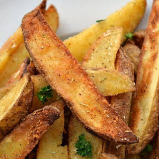 Parmesan Rosemary Baked Potato Wedges.