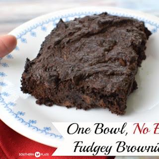 One Bowl, No Egg Fudgey Brownies