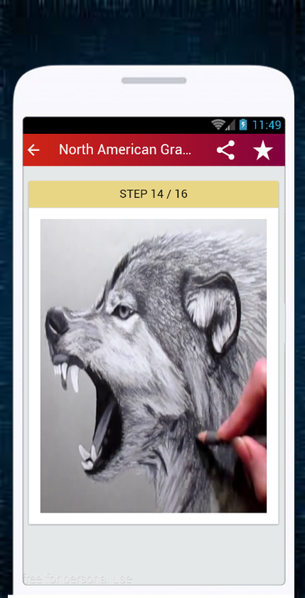 Wolf drawing android apps on google play wolf drawing screenshot ccuart Gallery