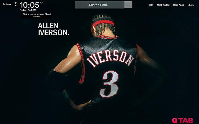 Allen Iverson Wallpapers HD Theme