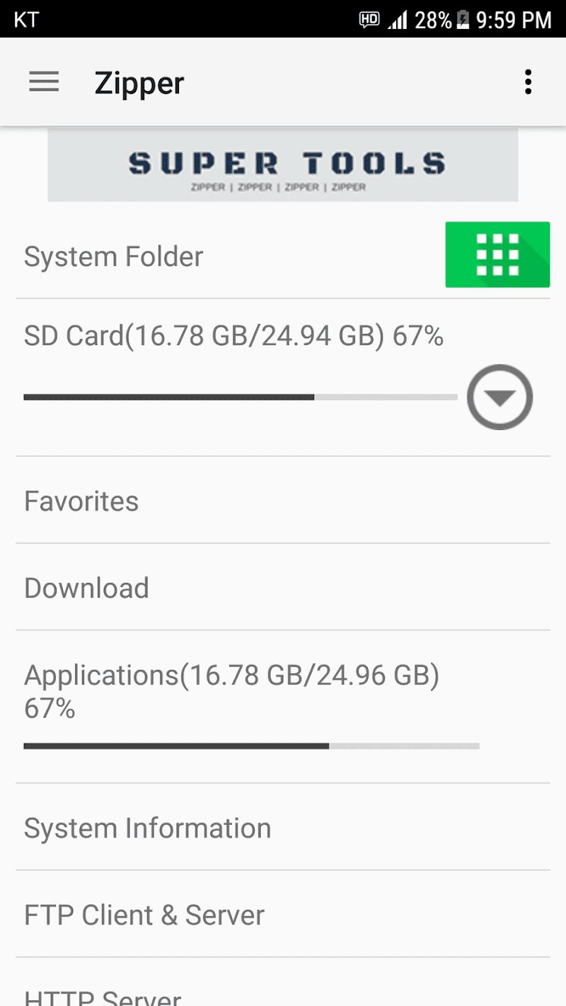 Zipper - File Management Screenshot 0