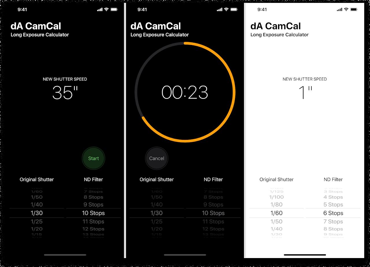 Screenshot of dA CamCal