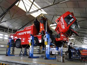 Photo: Fandos Auto Trader Used and New Trucks. Facilities Teruel, Spain. / Talleres Fandos Instalaciones para camiones nuevos y usados en Teruel, Aragón,  España
