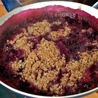 Fit and Fast Blueberry Cobbler with Almond Meal.