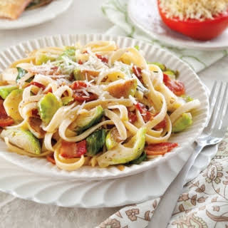 Bacon and Brussels Sprouts Pasta.