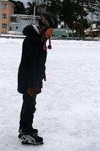 Photo: Skeptisch, denn das Eis war durch den vorherigen Regen sehr holprig.