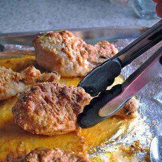 Parmesan Chicken Drumsticks with Garlic Butter.