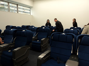 Photo: ANA Cabin Attendant Academy Mock-Up room. We had lunch here.