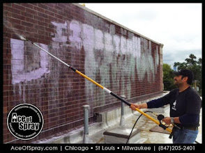 Photo: Tired of the tagging? Let #Chicago, #Milwaukee & #StLouis' favorite #GraffitiRemoval company restore your building.  http://www.aceofspray.com