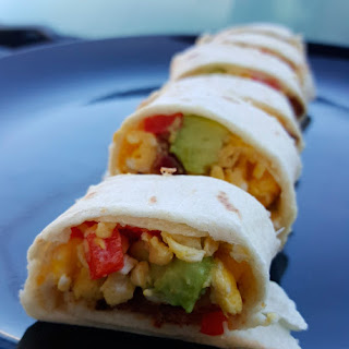 Egg & Avocado Breakfast Rolls