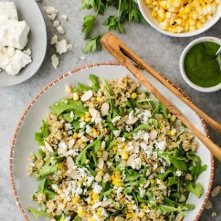 Freekeh Salad with Sweet Corn and Arugula
