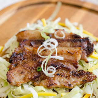Pan Grilled Miso Pork Belly Recipe