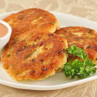 Golden Fish Patties with Chipotle-Orange Dipping Sauce.