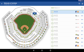 Screenshot of SeatGeek Event Tickets