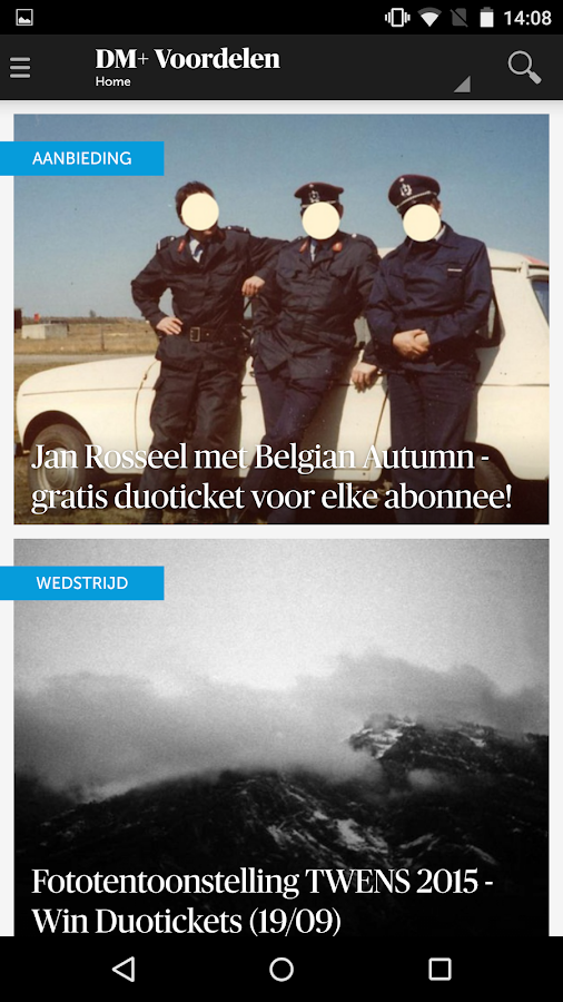 DeMorgen.be Mobile- screenshot