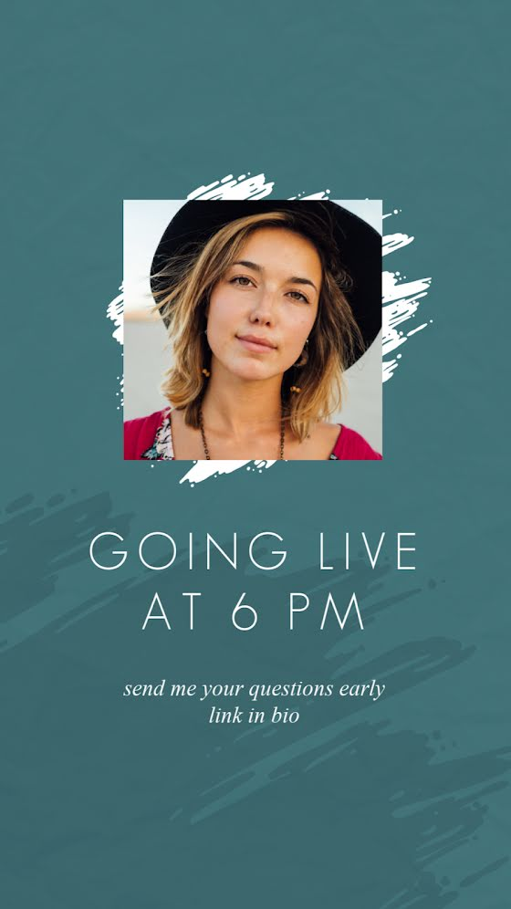 Going Live at 6 - Facebook Story Template