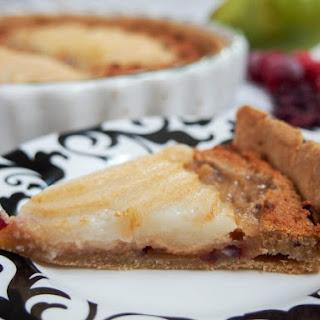 Pear Frangipane Tart with Cranberries Recipe