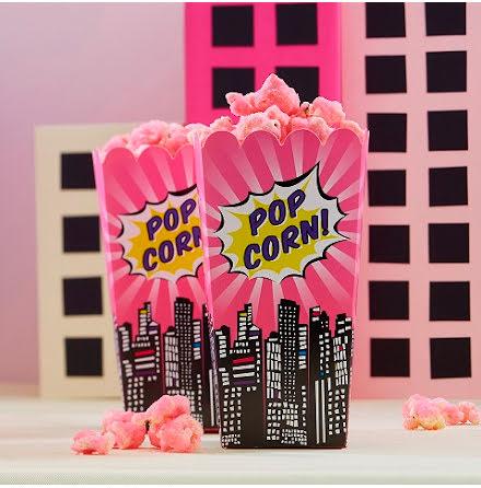 Popcornboxar - Pop Art Superhero Pink