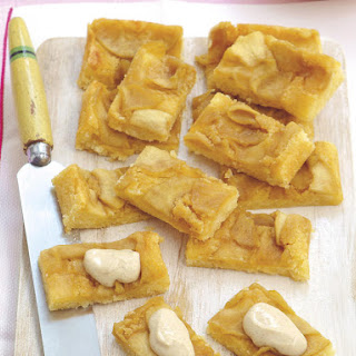 Apple Cake Bars with Cinnamon Yogurt Topping