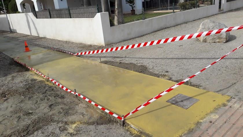 Obras ejecutadas en las inmediaciones de la vivienda del regidor.