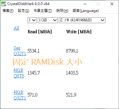 ImDisk Toolkit 設為固定式 RAM Disk 的效能