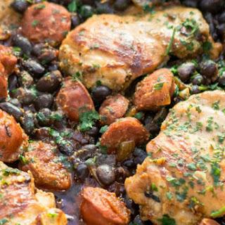 Piri Piri Chicken & Chorizo with Black Beans