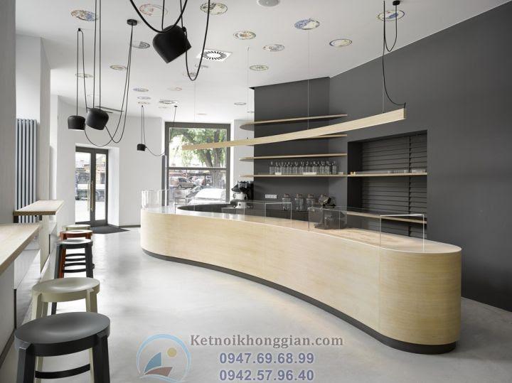 thiết kế nội thất cửa hàng bánh, thiết kế quán bar