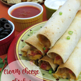 Cream Cheese Chicken Taquitos.