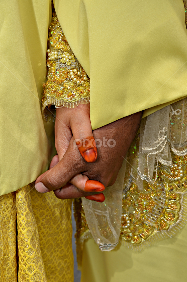 With love, we hold hands by Iz Fotografi Art Works - Wedding Reception ( malay wedding, hands, wedding, bride, people, loves )