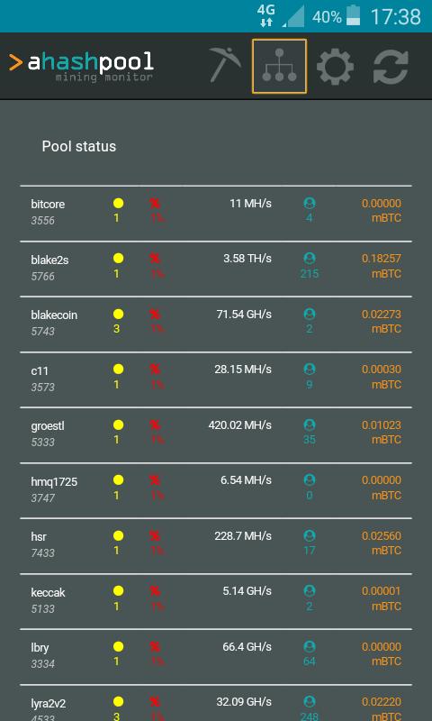 aHashPool Balance Monitor