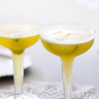 Lime and Passionfruit Champagne Punch.